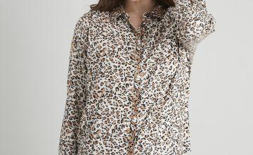 Leopard Print Foil Shirt