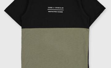 Khaki & Black T-Shirt