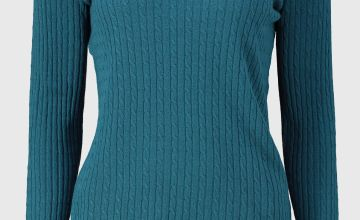 Green Soft Touch Mini Cable Knit Jumper