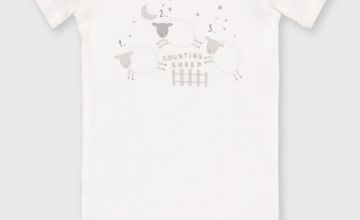 Organic 'Counting Sheep' Bodysuit