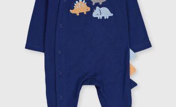Navy Dinosaur Sleepsuit