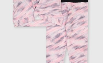 Pink Space Dye Dance Set