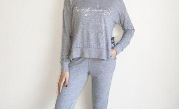 Blue Marl Pyjama Bottoms