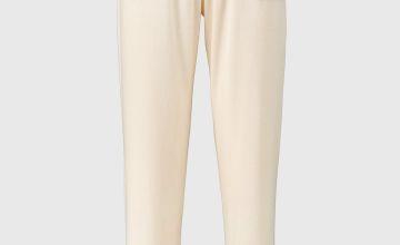 Pink Soft Knit Rib Detail Pyjama Bottoms