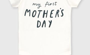 White 'My First Mother's Day' Bodysuit