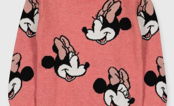 Disney Minnie Mouse Pink Knitted Jumper