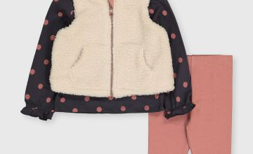 Pink, Cream & Grey 3 Piece Set