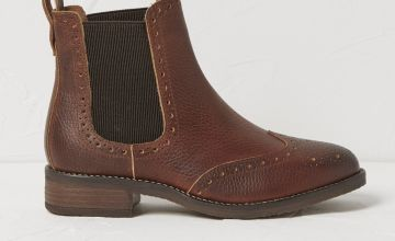 FATFACE Tan Leather Chelsea Boots