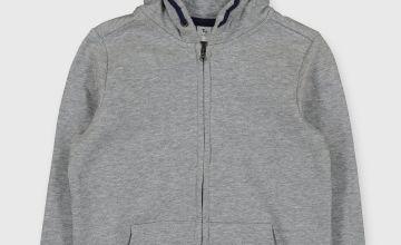 Grey Zip Through Hoodie