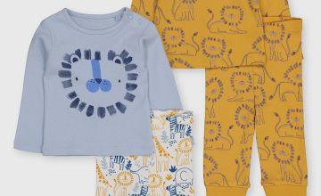 Lion Snuggle Fit Pyjama 2 Pack
