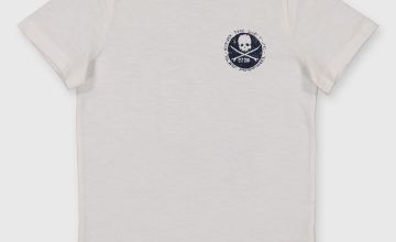 White Surf Front & Back Graphic T-Shirt