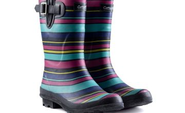 COTSWOLD Stripe Paxford Mid Calf Wellington Boot