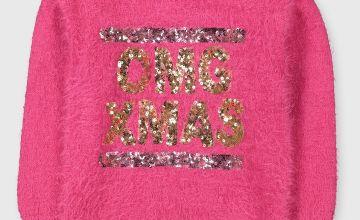 Hot Pink 'OMG Xmas' Jumper