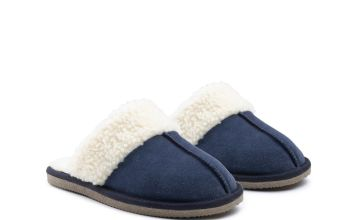 Navy Arianna Mule Slippers