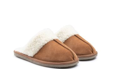 Tan Arianna Mule Slippers