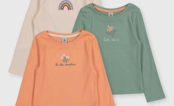 Spring Long Sleeve Tops 3 Pack
