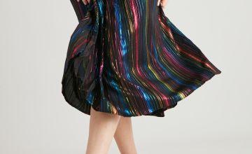 PETITE Rainbow Pleated Skirt