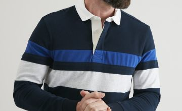 Navy Striped Rugby Shirt