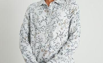 Floral Print Button-Through Shirt