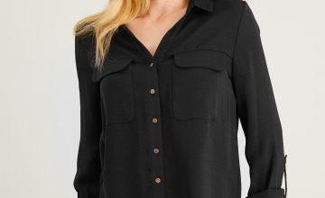 Black Twill Utility Shirt