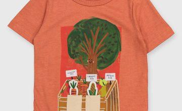 Orange Farmer's Market Interactive T-Shirt