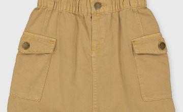 Stone Paperbag Waist Skirt
