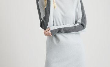Grey Sporty Side Stripe Jumper Dress