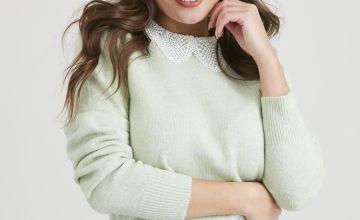 Green Lace Collar Jumper