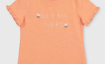 Orange 'Let's Bee Happy' T-Shirt