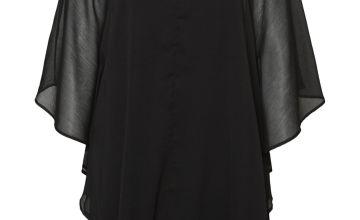 Black Bat Sleeved Mini Dress