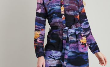 Graduate Fashion Week Watercolour Shirt Dress
