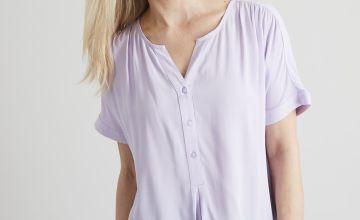 White Crepe Short Sleeve Blouse