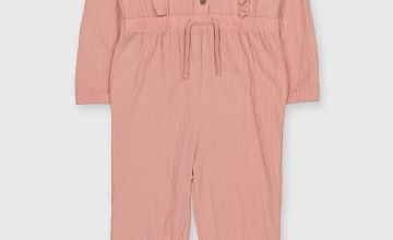 Pink Crinkle Jumpsuit