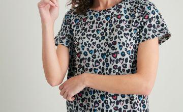 Animal Print Soft Knit Nightdress