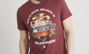 Volkswagen VW Camper Red Crew Neck T-Shirt