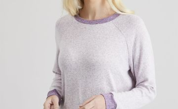 Purple Marl Soft Knit Lounge Top