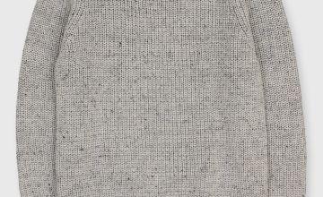 Grey Fisherman Knit Jumper