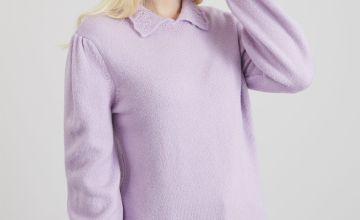 Lilac Scallop Collar Jumper