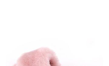 Rose Pink Lily Sheepskin Slider Slipper