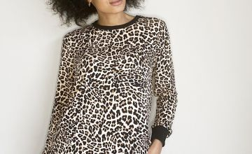 Leopard Print Coord Sweatshirt