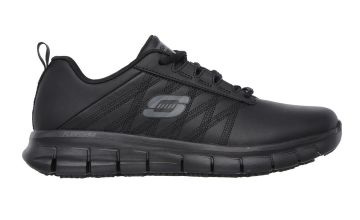 SKECHERS Black Sure Track Erath Lace Up Work Shoe