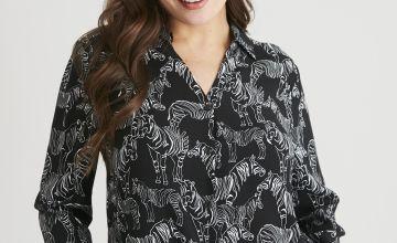Zebra Print Western Shirt