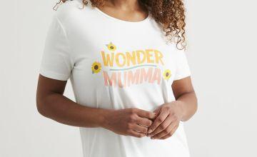 Cream 'Wonder Mumma' Pyjamas