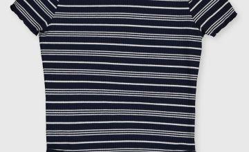Stripe Short Sleeved Bodysuit