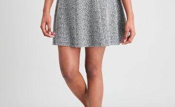Paisley Ponte Flippy Skirt