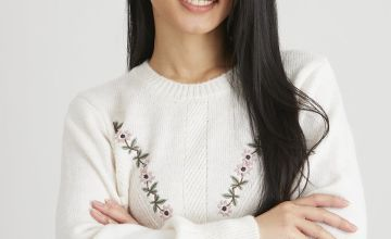 PETITE Cream Jumper With Floral Embroidery