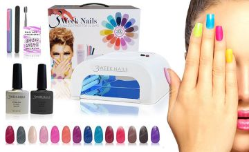 £29.99 instead of £199 (from 3 Week Nails) for a 12-piece UV gel nail polish and accessories kit, £39 for a 15-piece kit - save up to 85%