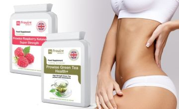 £14.99 (from Prowsie Healthcare) for a raspberry ketone and green tea supplement bundle