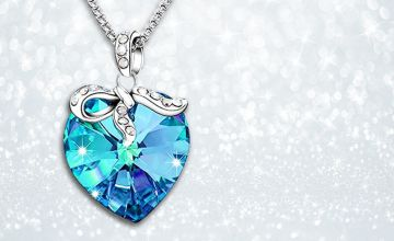 £16 instead of £99.99 for a blue heart pendant made with crystals from Swarovski ® from GameChanger Associates - save 84%