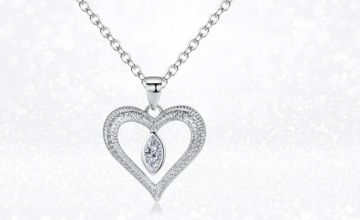 £12 instead of £89.99 (from Gemnations) for a love drop necklace made with Crystals from Swarovski ® - save 87%